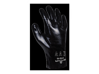 """Showa Best 7710R-10"""" Black Knight Chemical Resistant Glove"""