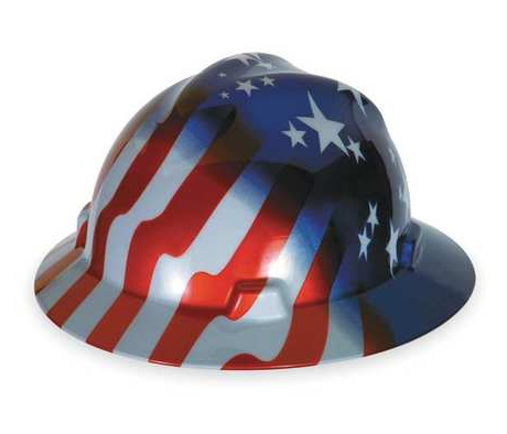 MSA 10071157 Hard Hat with Stars and Stripes