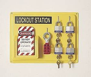 Lockout Tagout Wall Station 4 Units 104F