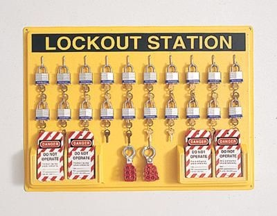 North Safety Lockout Tagout Wall Station 20 Unit
