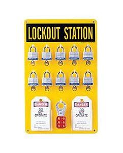 Brady Lockout Tagout Wall Station 10 Unit