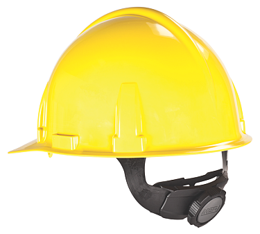 Large MSA 477484 Cap Style Yellow Hard Hat with Ratchet Suspension