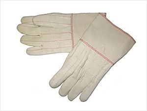 "30 oz Hot Mill Gloves Burlap Lined with 4.5"" Gauntlet Cuff"