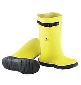"Onguard Industries Yellow 17"" PVC Overboots with Strap"