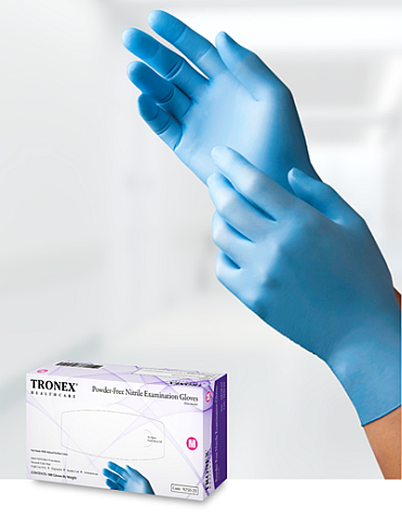 Tronex 9252 Powder Free Nitrile Gloves, PF 3.5 mil Nitrile Gloves 2000ct, 10 boxes of 200 w/FREE SHIPPING