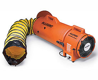 Allegro 9536-15 Axial 8'' DC Plastic Blower with Canister and 15' Ducting