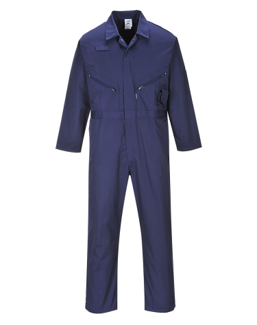 Portwest C813 Coveralls, 7 oz Portwest Liverpool Zipper Navy Blue Coveralls