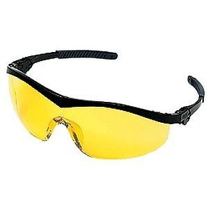 Crews Storm Safety Glasses Amber Lens ST114, safety glasses with yellow lens