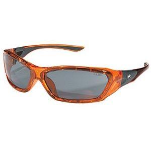 Crews ForceFlex Safety Glasses Orange Frame FF132