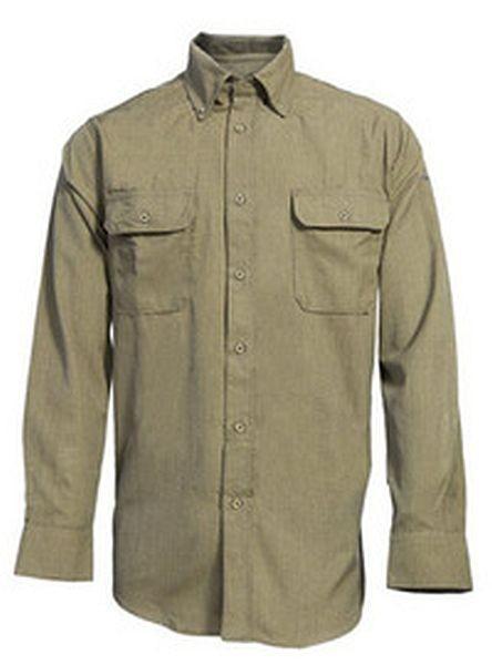 Flame Resistant Tan Work Shirt, FR work shirt