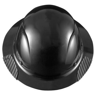 DAX Matte Black Fiber Resin Full Brim Hard Hat HDF-15KG