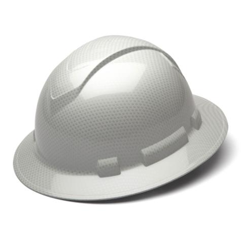 Pyramex RidgeLine Shiny White Graphite HP54116S Full Brim
