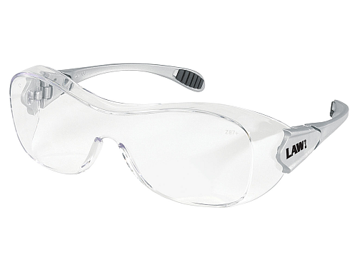 Crews Law OG110AF Safety Glasses over Prescription Safety Glasses