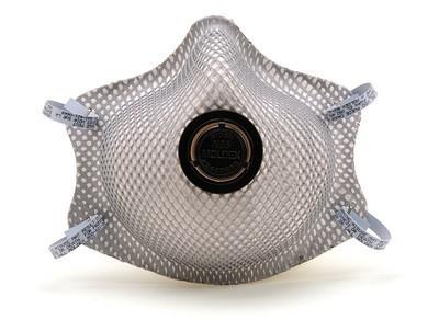 Moldex 2400N95 Respirator mask, dist mask with valve