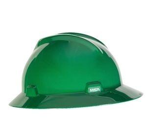 MSA Hard Hat Full Brim Green MSA 475370, green hard hats, msa hard hats