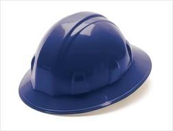 Pyramex Full Brim Blue Hard Hat with Ratchet suspension 26160