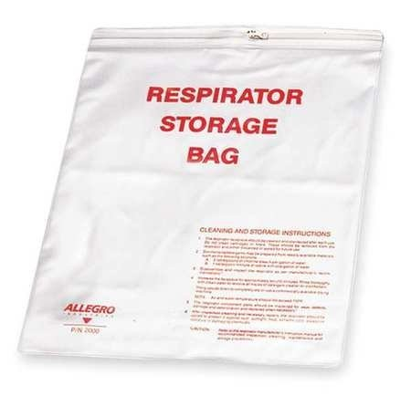 Respirator storage bag, bag for respirator, respirator storage