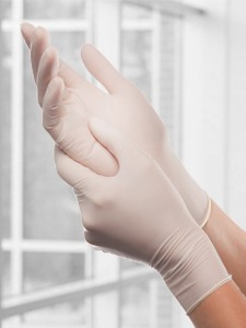 Tronex 4 mil latex gloves with powder
