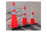 "18"" Traffic Cones with Reflective Collar"