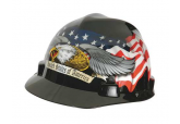 MSA 10079479 Hard Hat with US Flag and Eagle