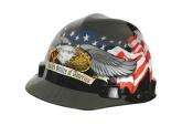 MSA 10079479 Hard Hat with US Flag and Eagle