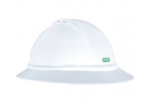 MSA 10167950 Full Brim Vented Hard Hat with Ratchet Suspension