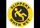 """Anti Slip """"SLIPPERY WHEN WET"""" Floor Sign--17"""""""