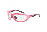 Crossfire 2254 Infinity Pink Safety Glasses Clear Lens