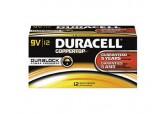 Duracell 9 Volt Alkaline Battery 12/pk