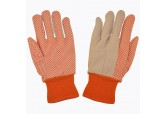 PVC Hi Vis Orange PVC Dotted Gloves 10 oz (DZ)