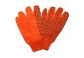 Hi Viz Orange 10oz Canvas Gloves with PVC Dots