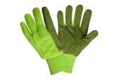 Hi Viz Green 10oz Canvas Gloves with PVC Dots