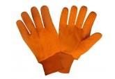 18 oz Hi Visibility Orange Double Palm Cotton Corded Gloves ( DZ )