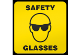 """Safety Glasses"" Ultra Durable Floor Sign ( 17"" x 17"" )"
