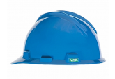 Large MSA 477483 Cap Style Blue Hard Hat with Ratchet Suspension