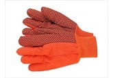 18 oz Hi-Viz Orange PVC Dotted Gloves