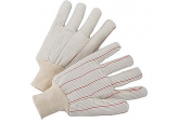 Cotton Corded Double Palm Glove, 18 oz-White