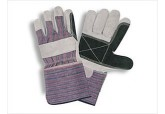 "Select Double Leather Palm Gloves 4.5"" Cuff"