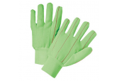 Cotton Corded Double Palm Glove, 18 oz-Hi-Viz Green