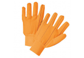 Cotton Corded Double Palm Glove, 18 oz-Orange