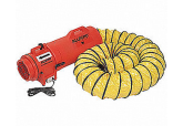 "Allegro 9543-25 12"" Axial AC Blower with Canister and 25' Ducting"