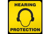 """Hearing Protection Ultra Durable Floor Sign ( 17"" x 17"" )"