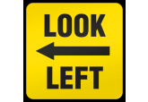 """Look Left"" Ultra Durable Floor Sign ( 17"" x 17"" )"