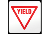 "Floor ""Yield"" Sign Ultra Durable Floor Sign ( 17"" x 17"" )"