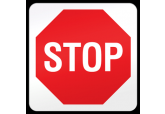 "Floor ""Stop"" Sign Ultra Durable Floor Sign ( 17"" x 17"" )"