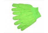 HI Viz Green 24-Oz. Double Palm Cotton/Poly Oil Field Gloves