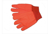 HI Viz Orange 24-Oz. Double Palm Cotton/Poly Oil Field Gloves