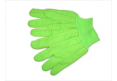 Green High Visibility Oil Field Gloves, Cotton Oil Field Gloves 18 oz
