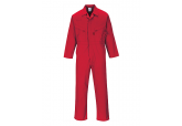 Portwest C813 Coveralls, 7 oz Portwest Liverpool Zipper Red Coveralls