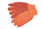 10 oz Hi-Viz Orange PVC Dotted Gloves